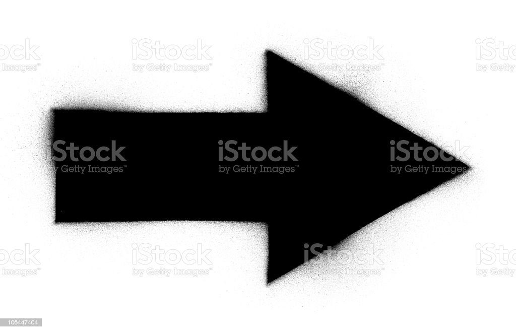 Border Mask for Images/Graphic Arrow royalty-free stock photo