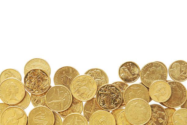 Border of Australian Coins stock photo