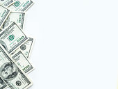 Copy space in a frame od us dollars.