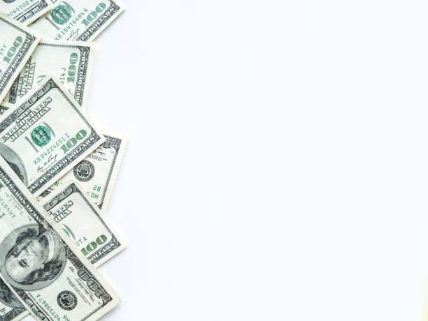 border of dollar banknotes. - money стоковые фото и изображения