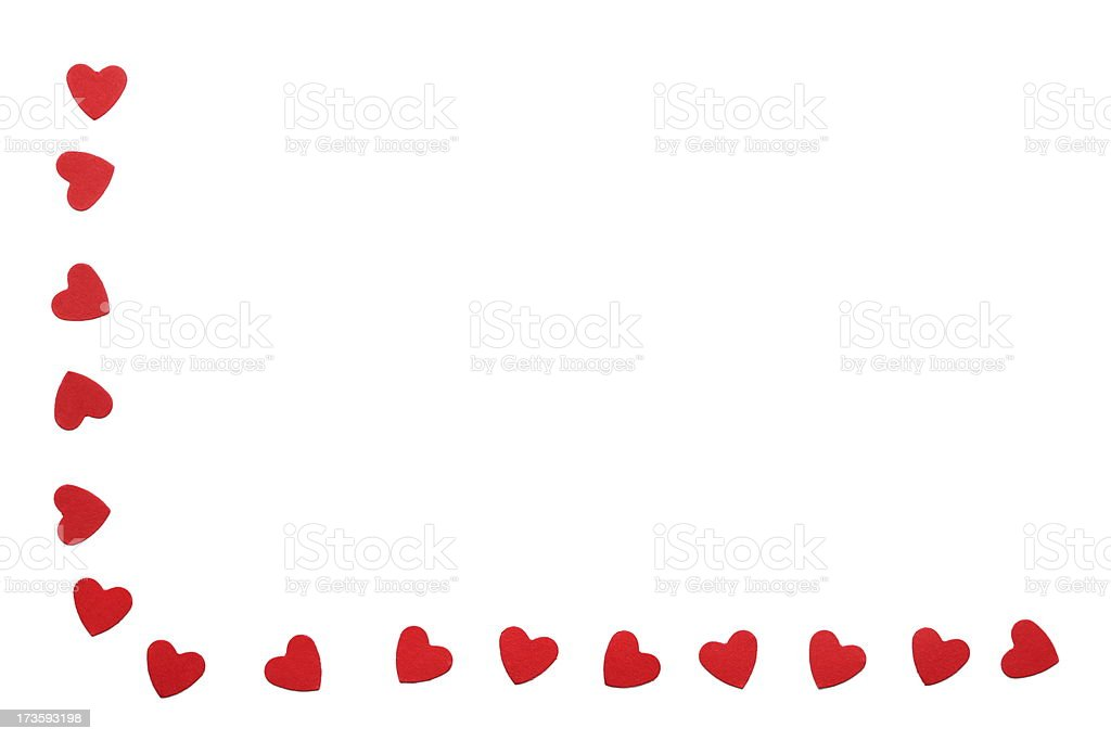 Border of Hearts stock photo