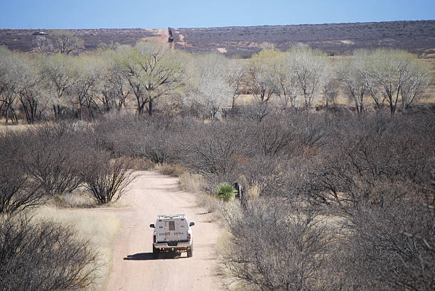 Border patrol in riverbed  border patrol stock pictures, royalty-free photos & images