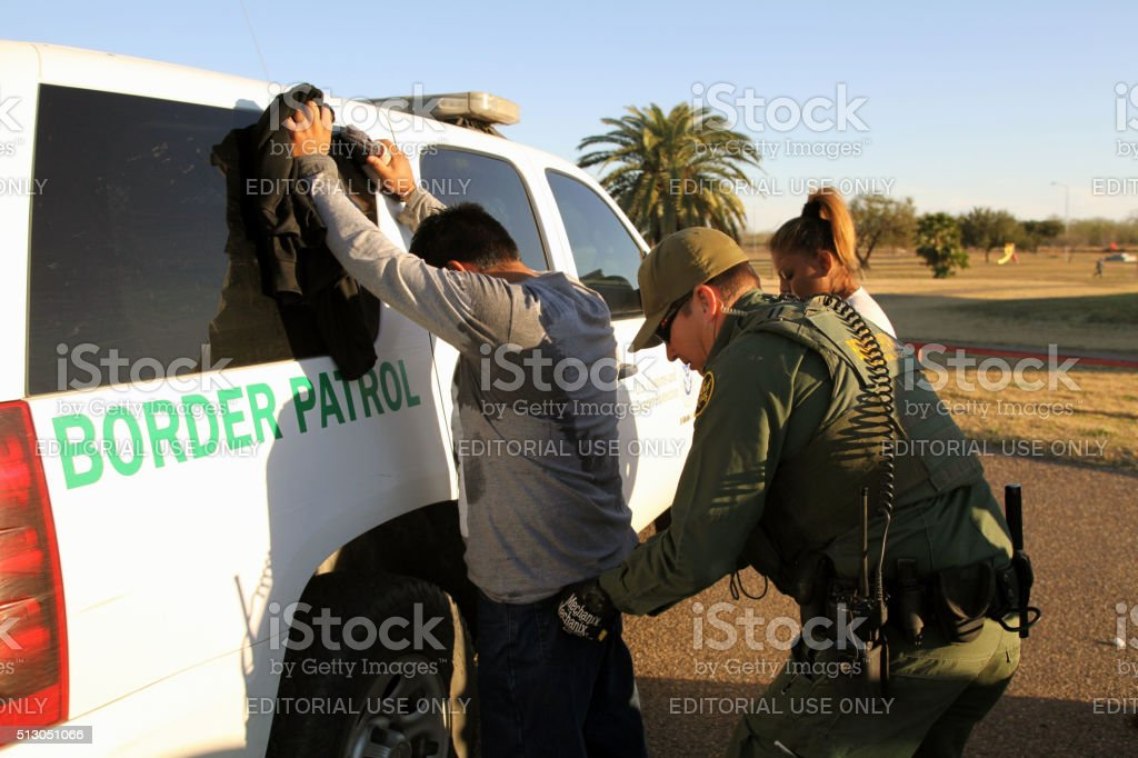 Border Patrol, Rio Grande Valley, Texas, Feb. 9, 2016 stock photo