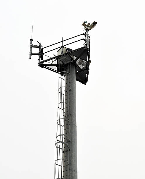 """Border Patrol Surveillance Tower """"Surveillance tower at the United States and Mexico Border in San Diego,CA.Please see my Border Issues Lightbox!"""" border patrol stock pictures, royalty-free photos & images"""