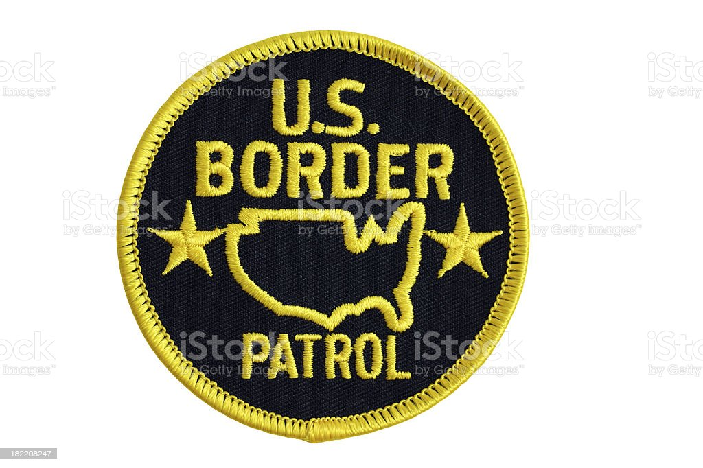 Border Patrol U.S. Patch royalty-free stock photo
