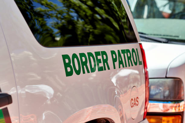 Border Patrol Vehicle Prescott, Arizona, USA - June 30, 2018: Border Patrol SUV parked on the side of the road in downtown Prescott for the 4th of July Events border patrol stock pictures, royalty-free photos & images