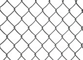 wired fence with clipping path.