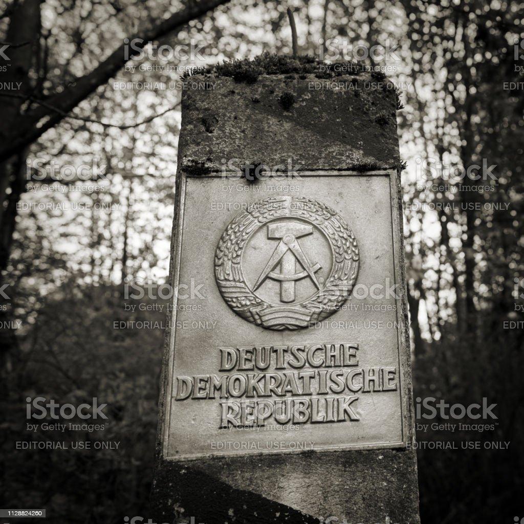 Grenze-Säule von der ehemaligen innerdeutschen Grenze – Foto