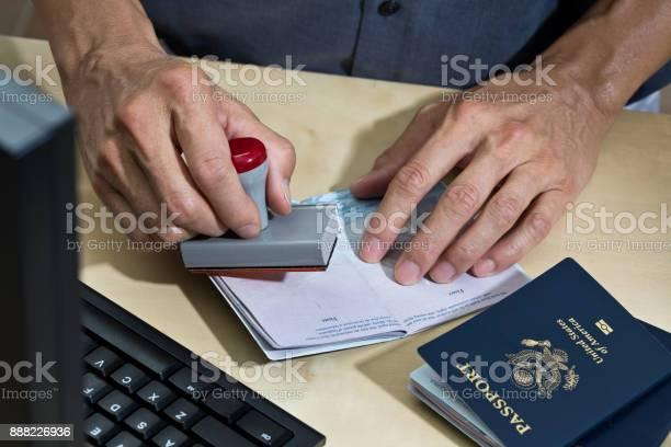 Us Border Security Homeland Security Pass Prüfstation Für Einwanderung Stockfoto und mehr Bilder von USA