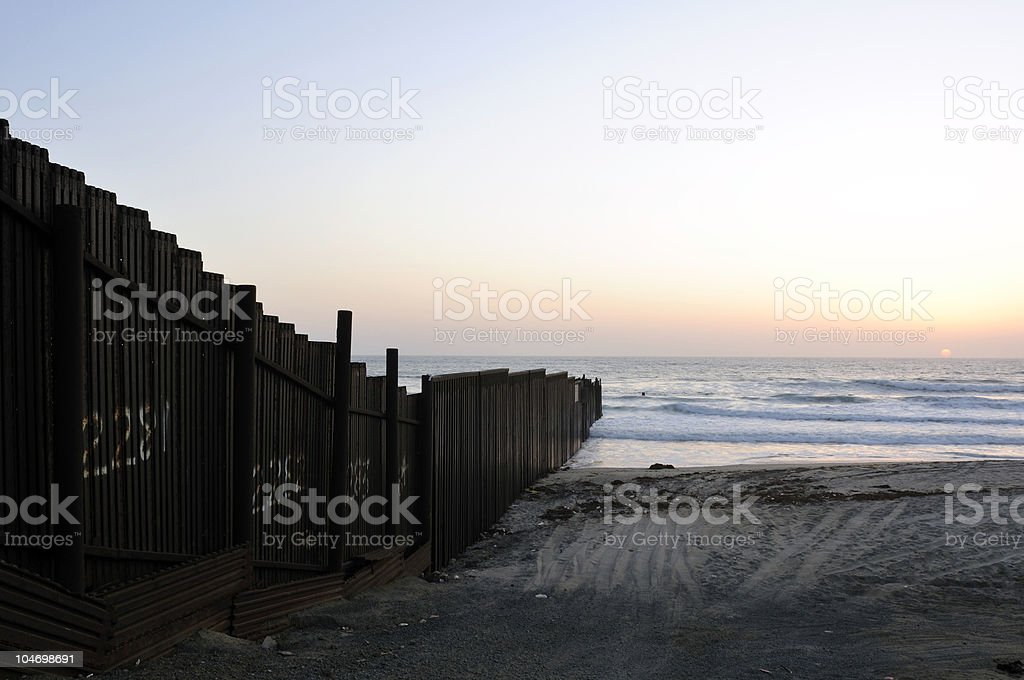 Border Sunset royalty-free stock photo