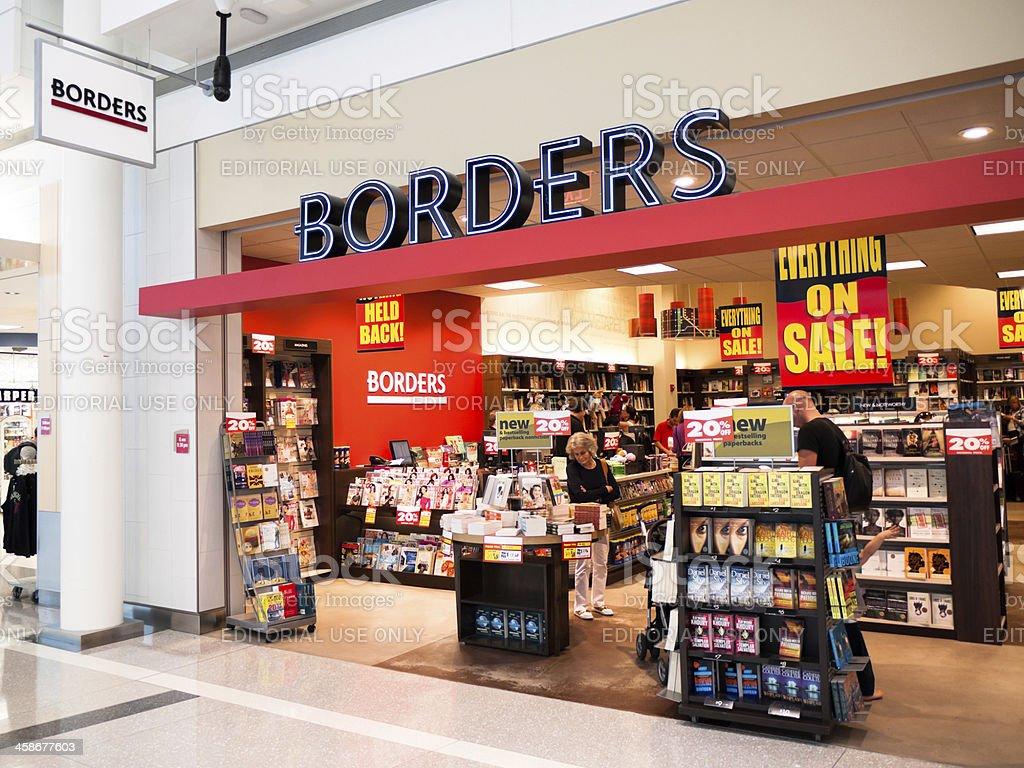 Borders Books Store Closing stock photo