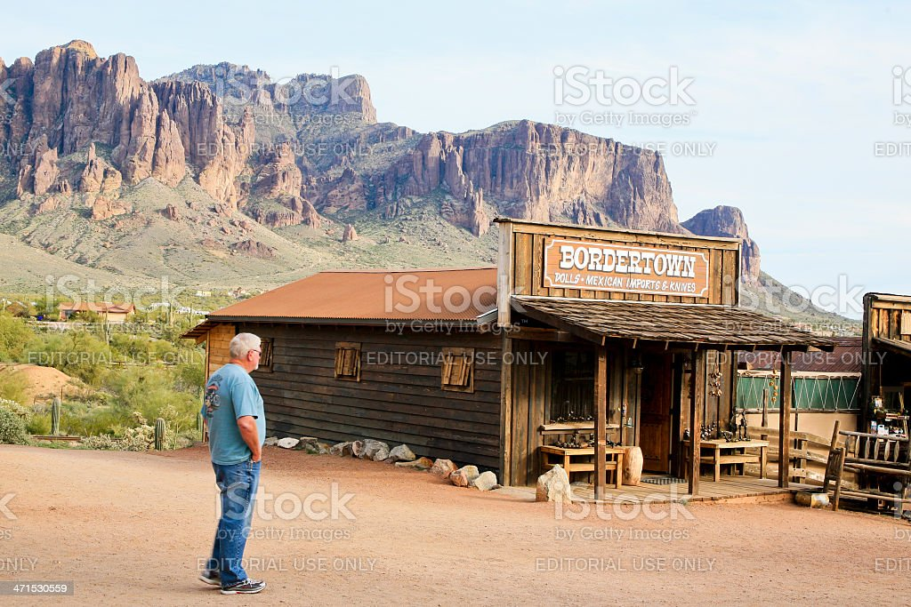 Bordertown Store, Goldfields Ghost Town, Arizona, USA royalty-free stock photo