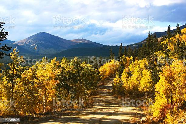 Boreas Pass With Aspenglow Stock Photo - Download Image Now