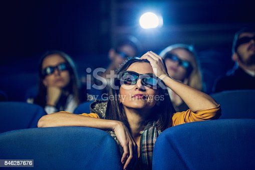 istock Bored at the cinema 846287676