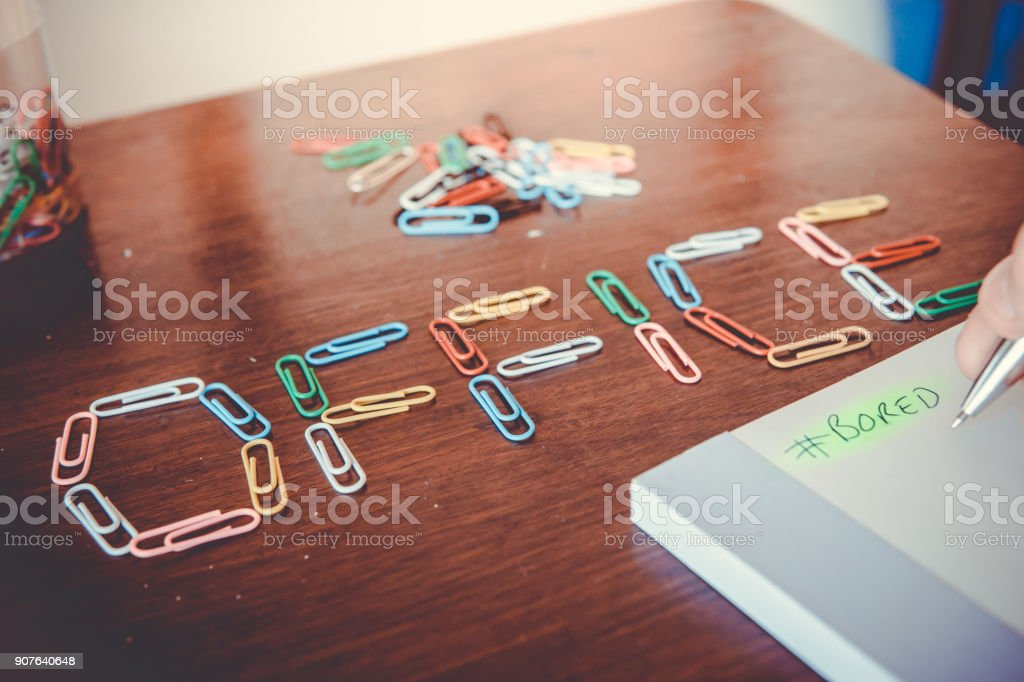 Bored at the Office concept stock photo