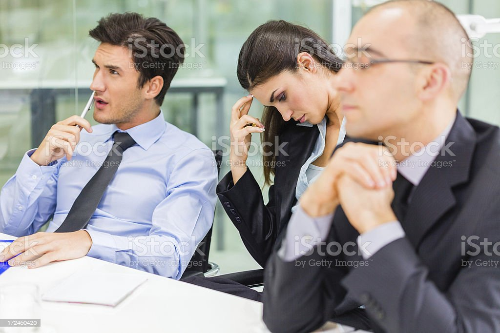 Bored business people at the office royalty-free stock photo