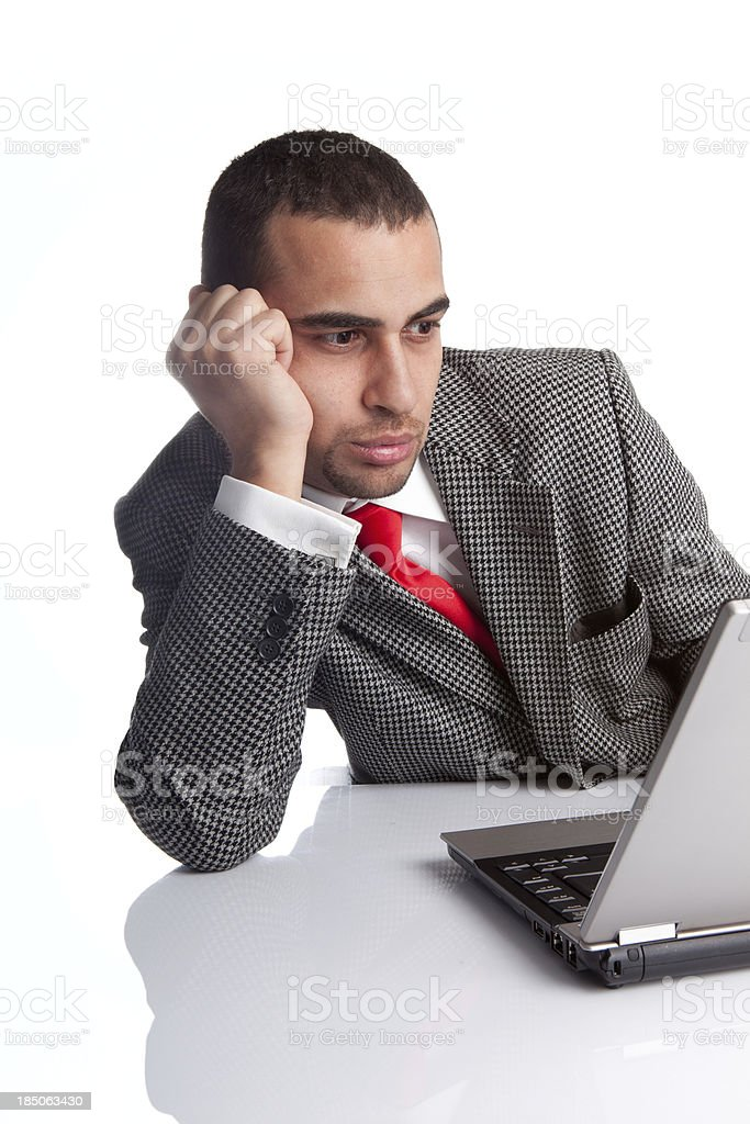 Bored businessman. royalty-free stock photo