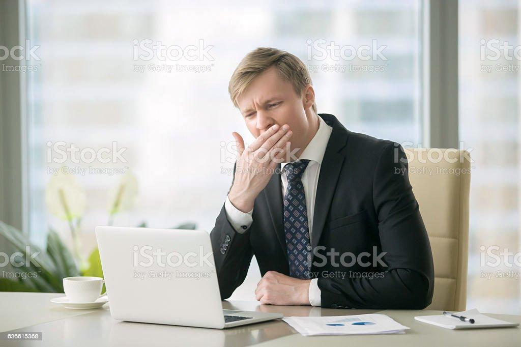 Bored businessman stock photo
