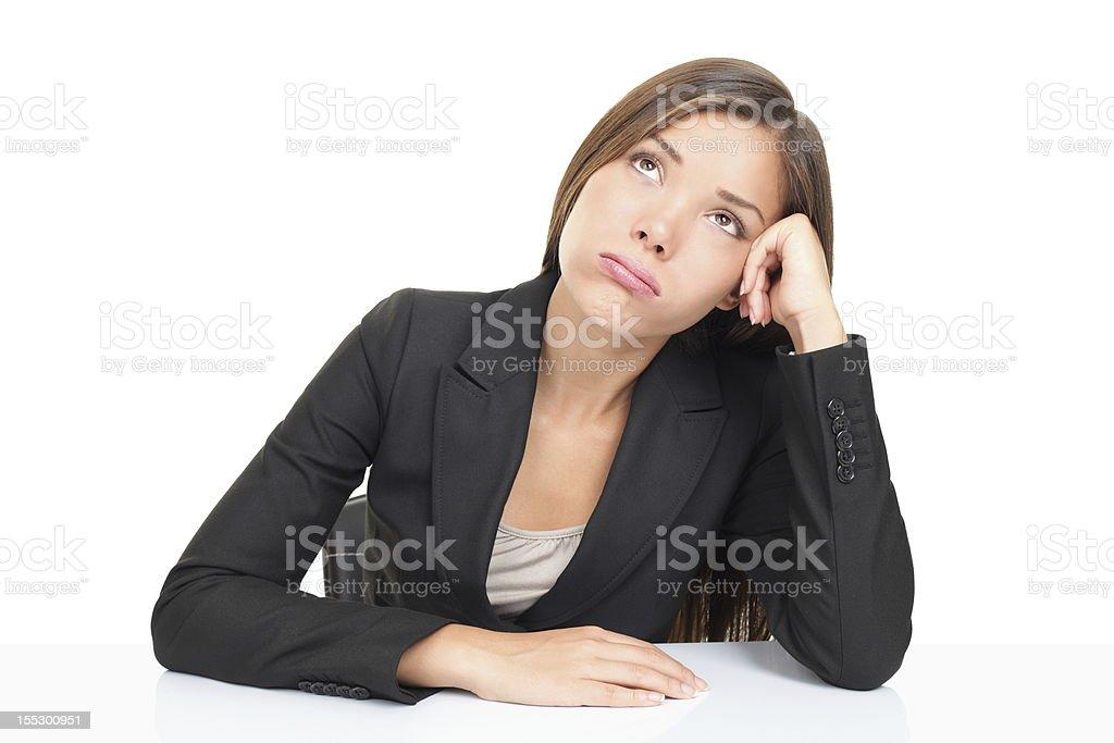 Bored businesswoman stock photo