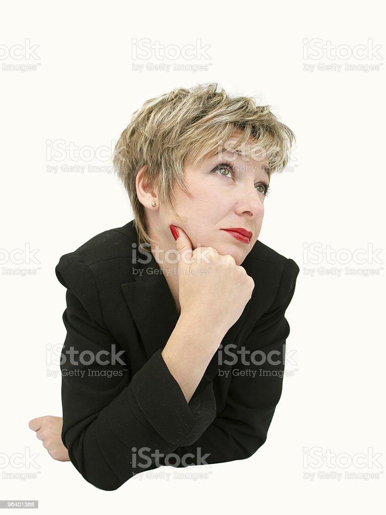 Bored businesswoman - Royalty-free Attitude Stock Photo
