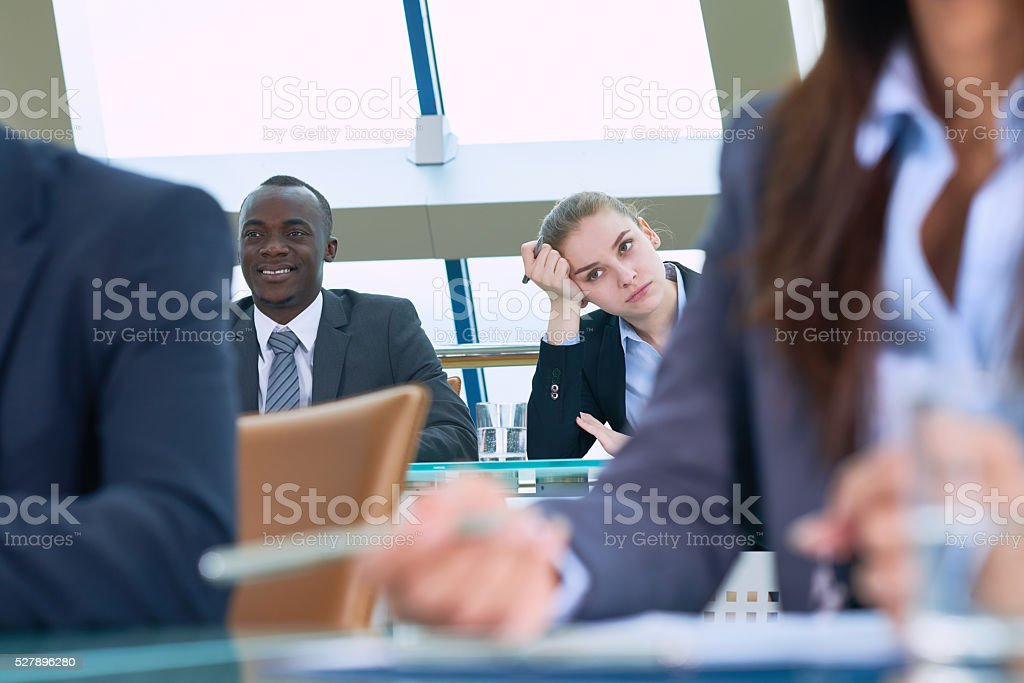 Bored conference stock photo