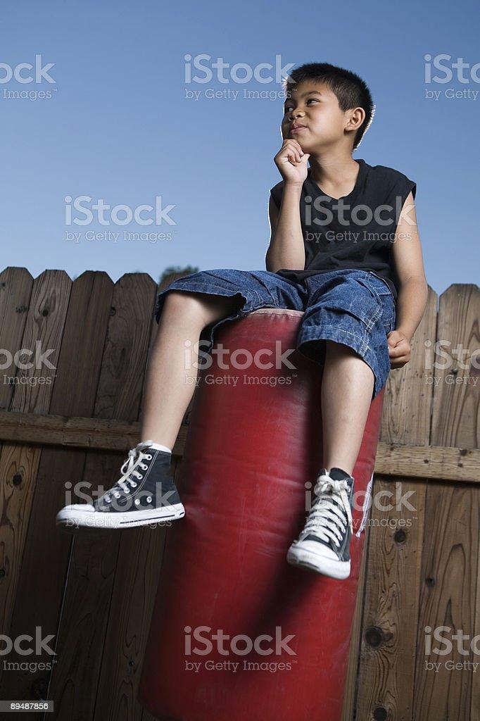 Bored kid royalty-free stock photo