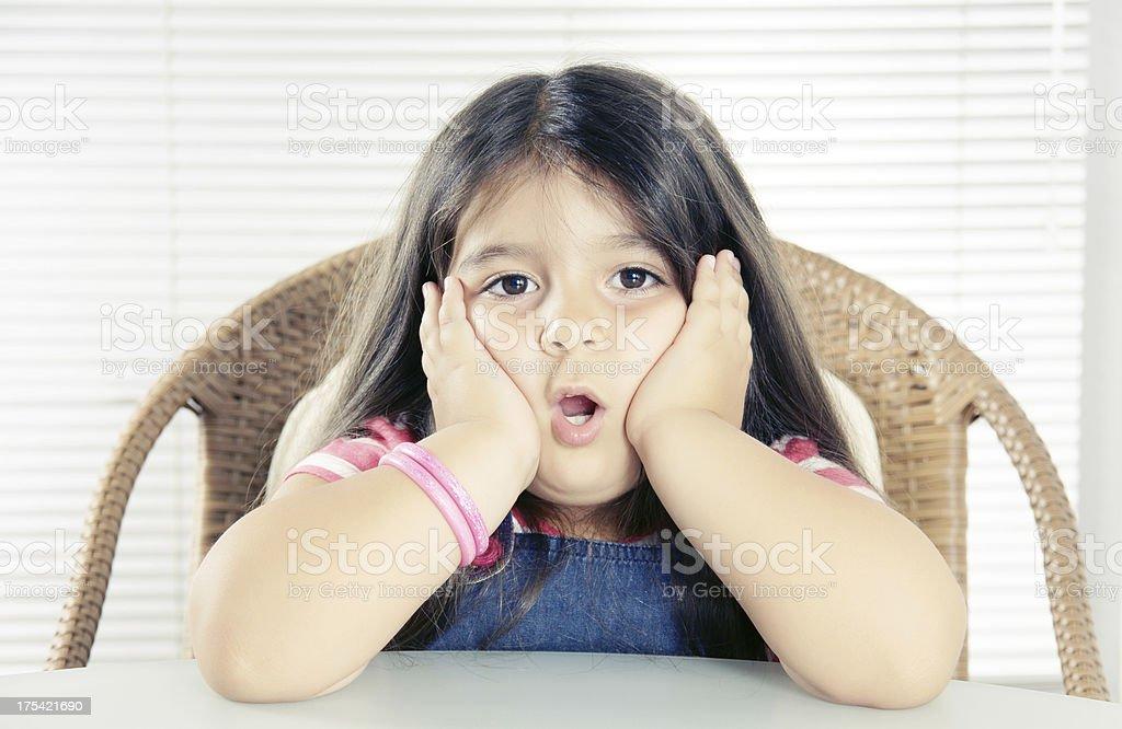 bored little girl (XXXLarge) stock photo