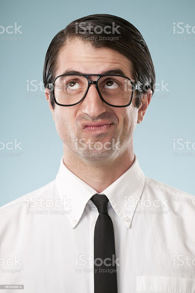 Bored Nerdy Office Worker royalty-free stock photo