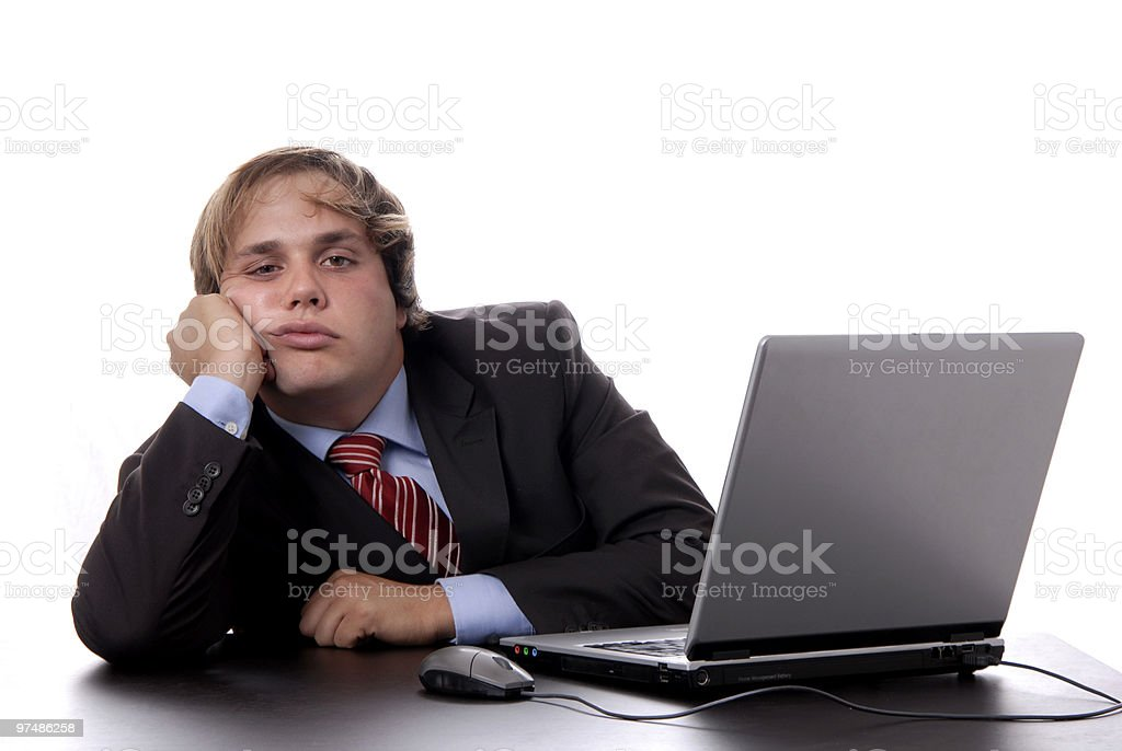 bored royalty-free stock photo