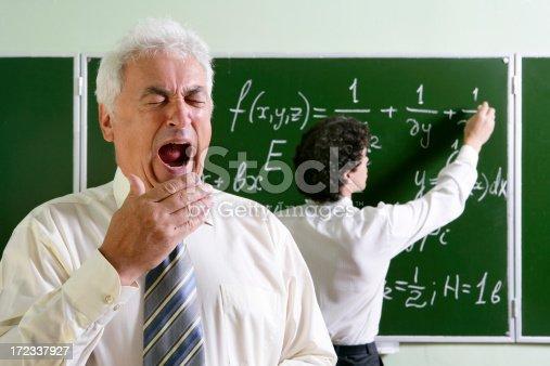 istock Bored professor 172337927