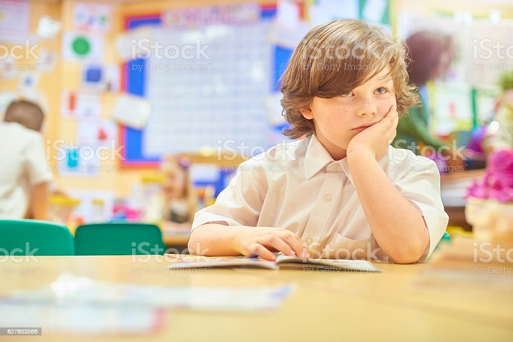 bored with school stock photo