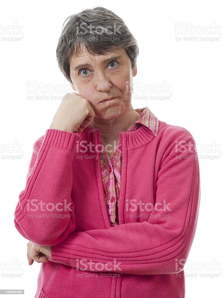 bored woman stock photo