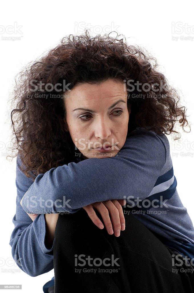 Bored woman royalty-free stock photo