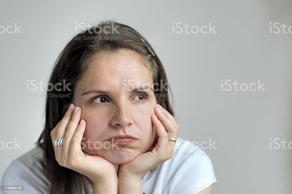 Bored young woman royalty-free stock photo