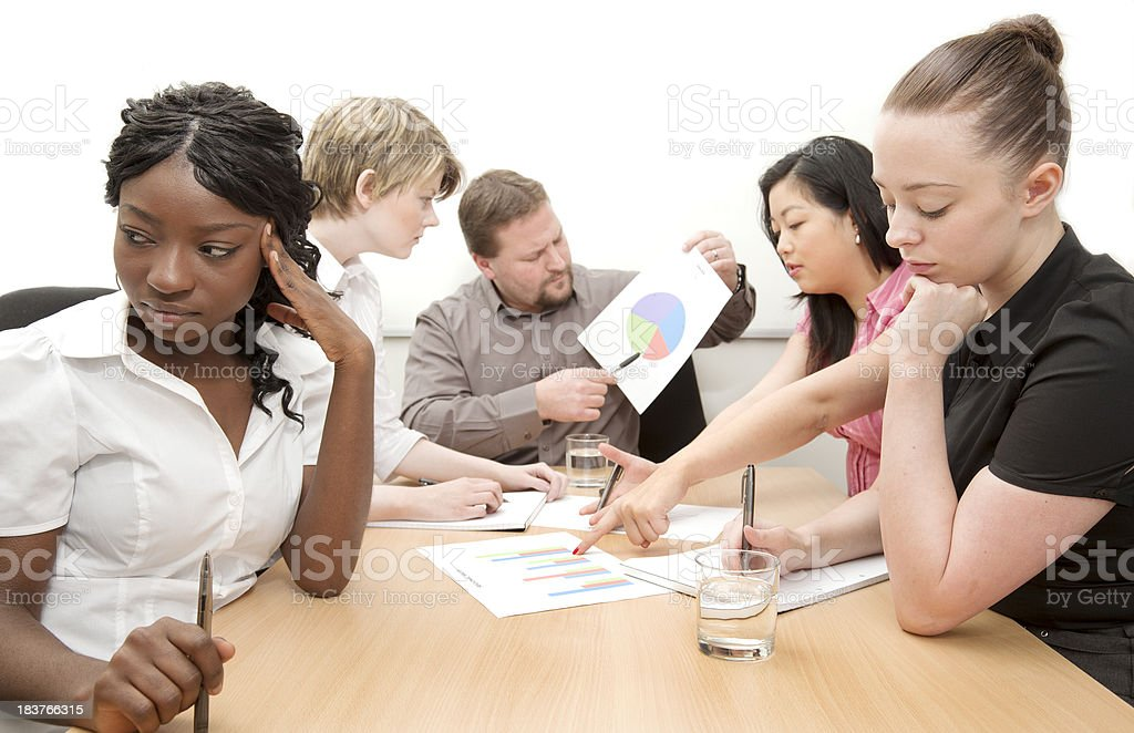 Boredom in a meeting royalty-free stock photo