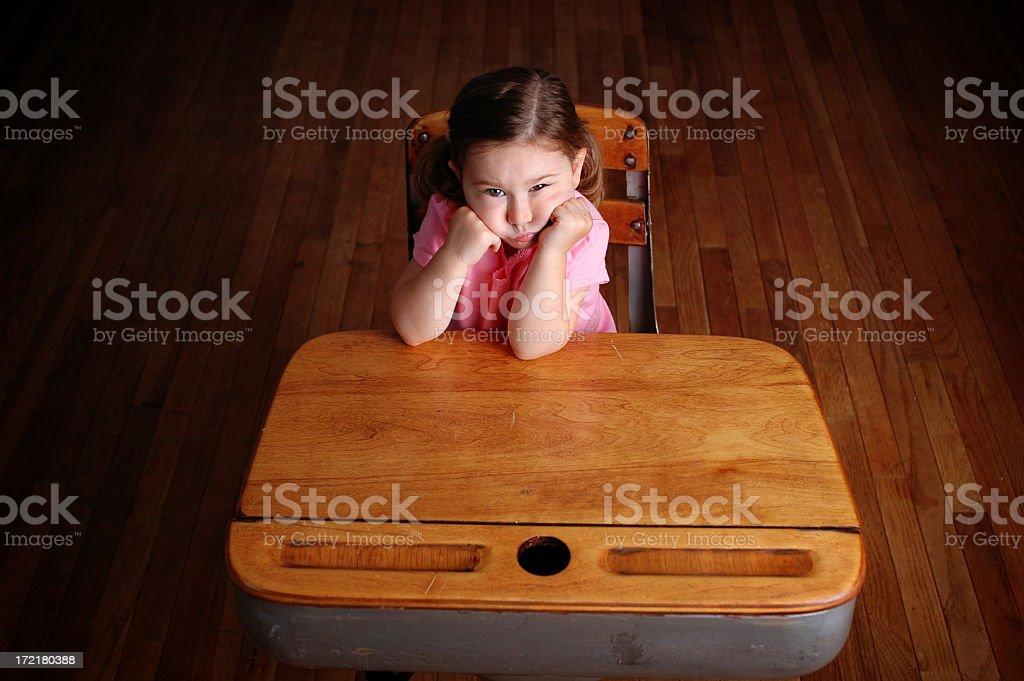 Boredom in School royalty-free stock photo