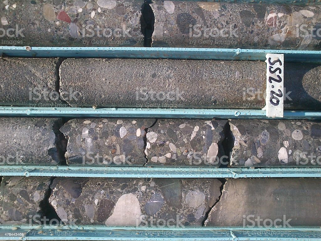 borehole sample stock photo