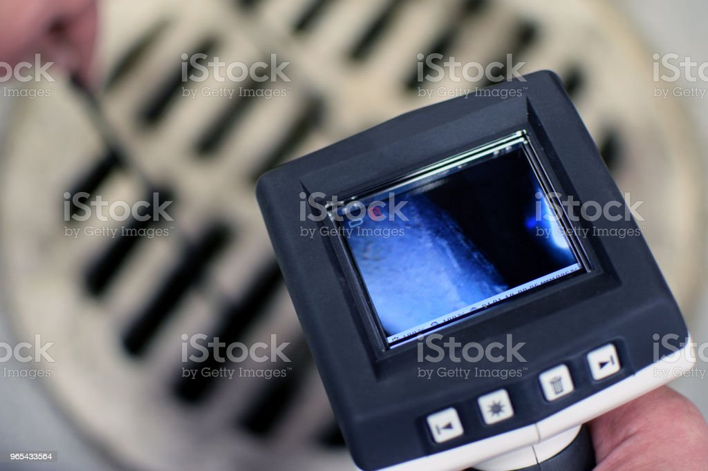 Cámara de inspección con boroscopio - foto de stock