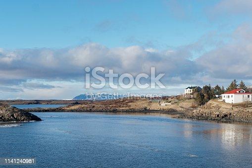 istock Borgarnes coastal outskirt, west Iceland in winter 1141240981