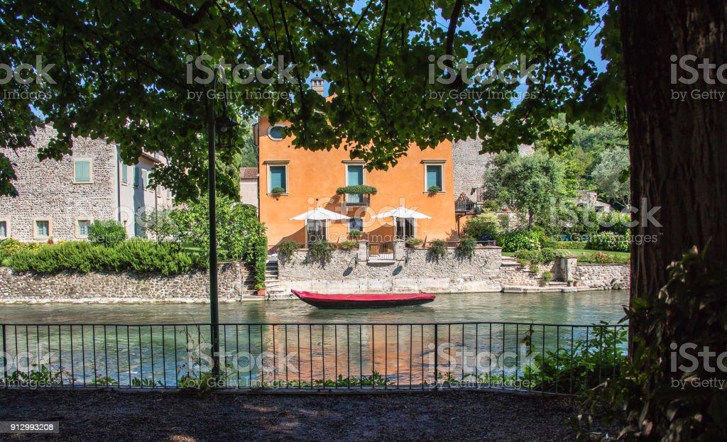 Borghetto village, Italy stock photo