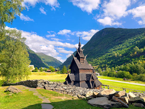 Borgund iglesia, Noruega - foto de stock