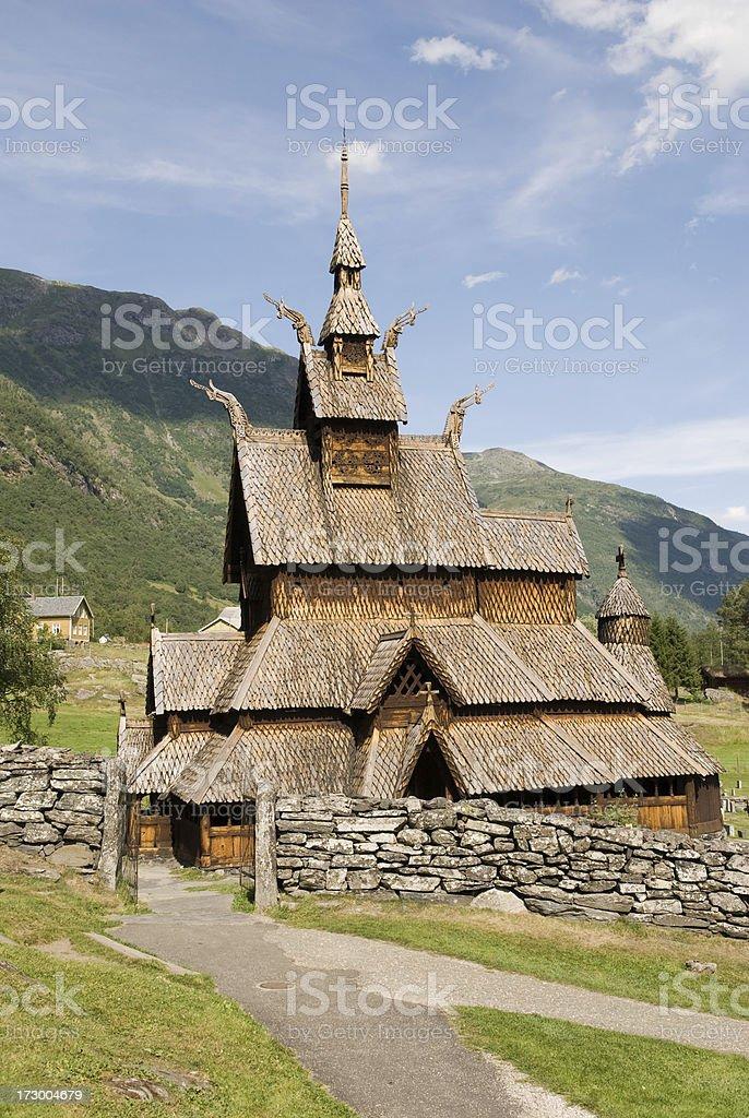 Borgund Stave Church royalty-free stock photo
