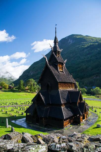Borgund Stabkirche, Sogn Og Fjordane, Norwegen – Foto