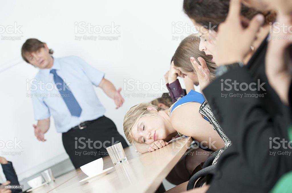 Boring business meeting royalty-free stock photo
