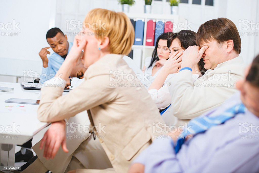 Boring Business Meeting stock photo