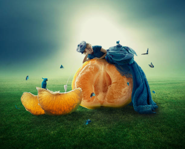 Boring evening renew old artwork surreal stock pictures, royalty-free photos & images