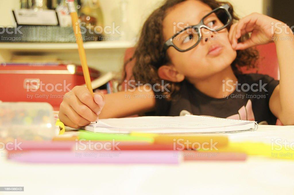 boring homework eight royalty-free stock photo