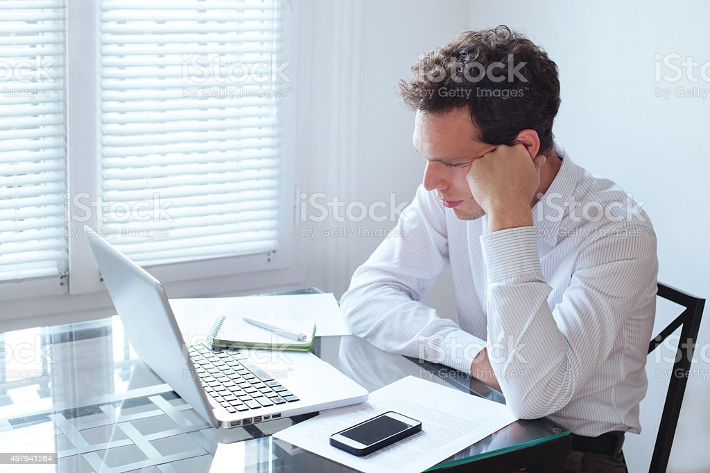 boring job stock photo