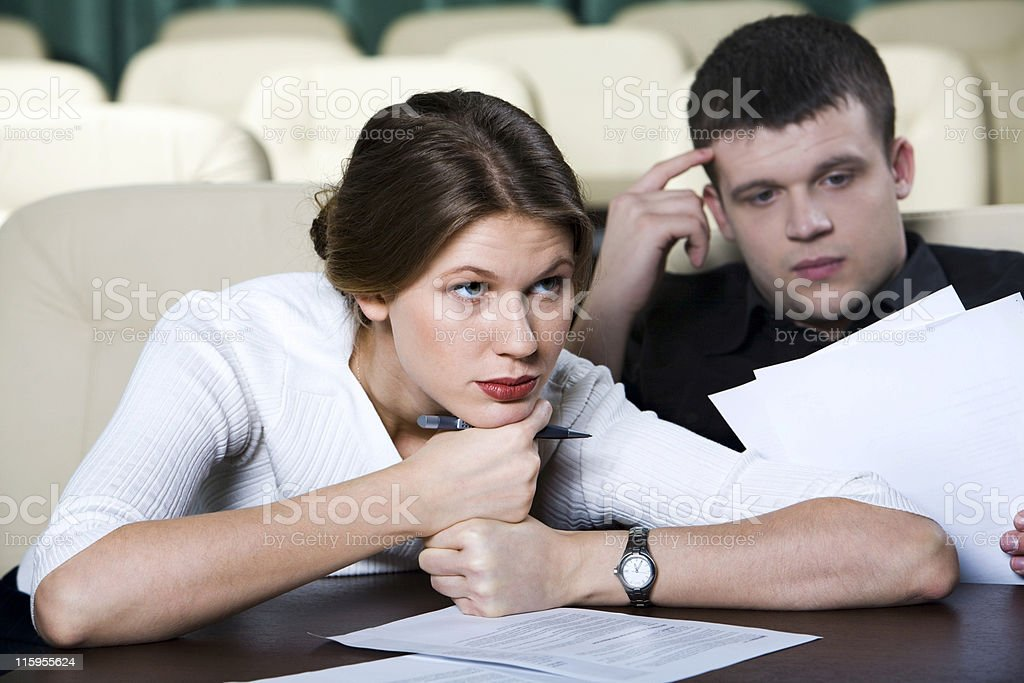 Boring lecture royalty-free stock photo