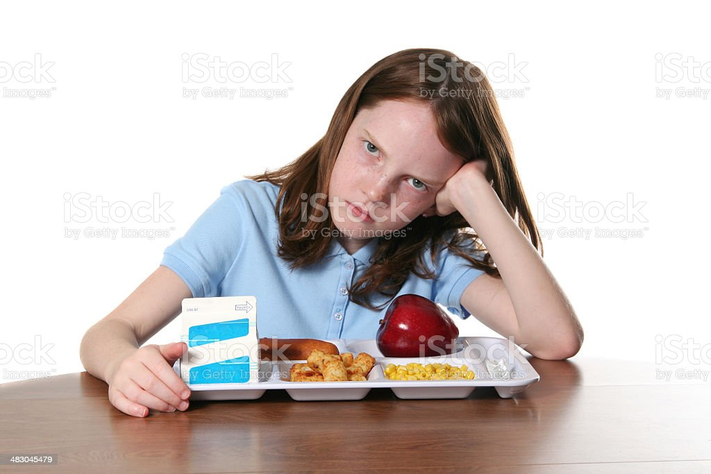 Boring Lunch royalty-free stock photo